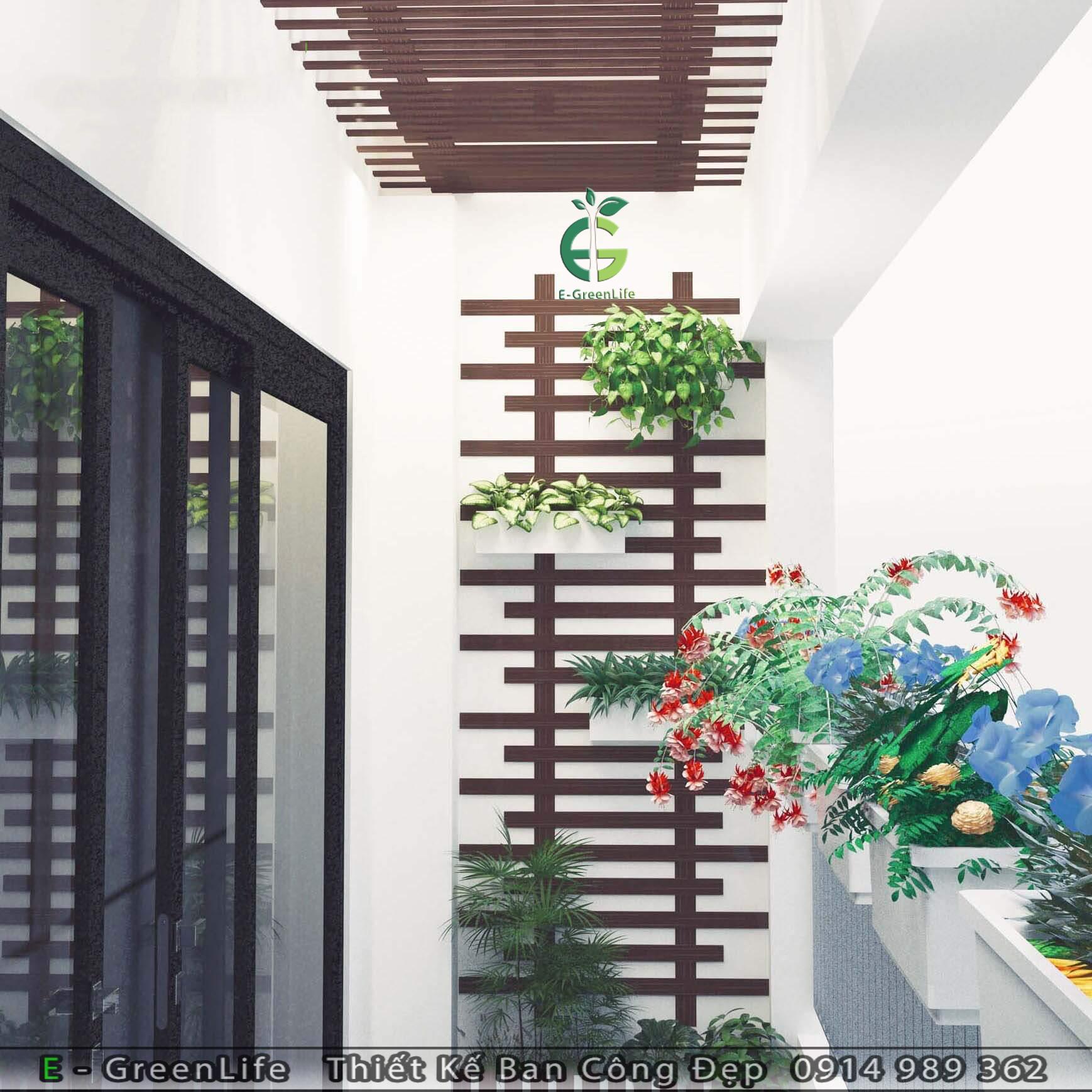 Ốp trần và tường gỗ nhựa composite