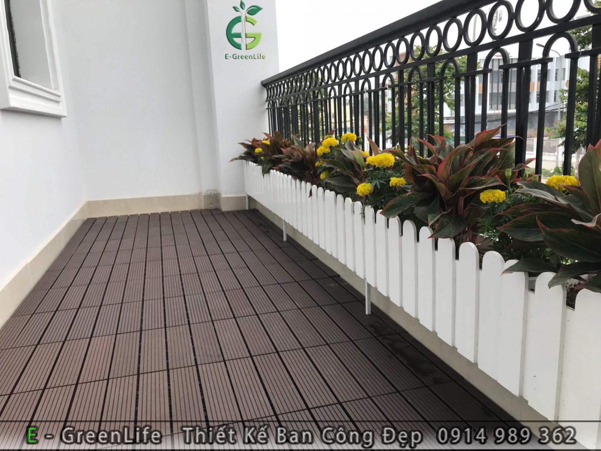 Vỉ sàn gỗ nhựa composite kích thước 30x30cm