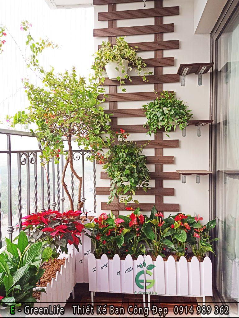 Chậu hàng rào gỗ nhựa composite tại Hà Nội. 4